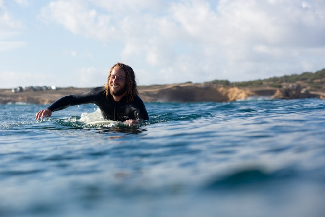 """Surfing in Italy is pure fun. """"The light, the colors, the rolling green hills. It all just felt 'right',"""" Jason Baffa says. Photo: Bella Vita"""