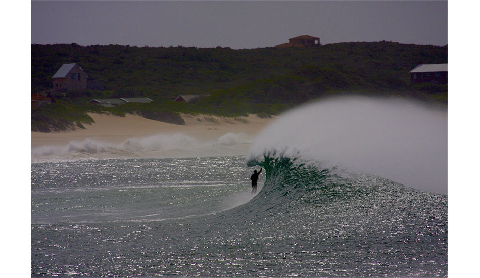 A-frame roof drag. Seal Point, South Africa. Photo: Jason Naudé