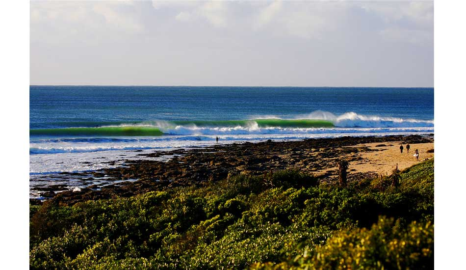 J-Bay, the world\'s most perfect right point. Photo: Jason Naudé