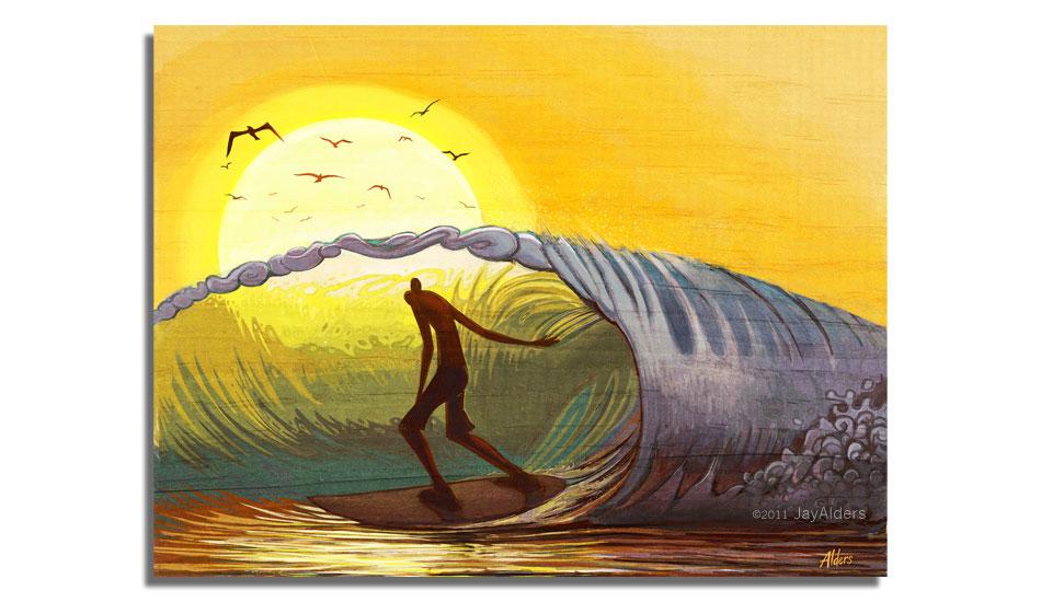 "Belmar Barrel. Art: <a href=\""http://jayalders.com/\"" target=_blank>Jay Alders</a>."