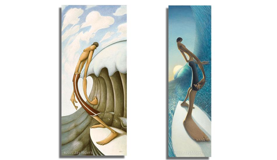 "Leaning Towards Love & Left Behind.Art: <a href=\""http://jayalders.com/\"" target=_blank>Jay Alders</a>."
