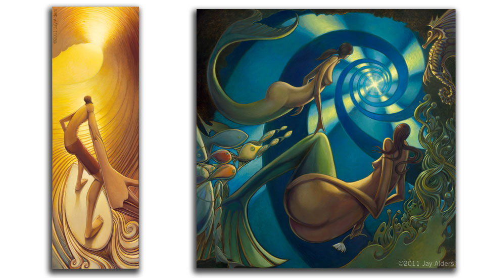 "Pot of Gold & Fairy Tails. Art: <a href=\""http://jayalders.com/\"" target=_blank>Jay Alders</a>."