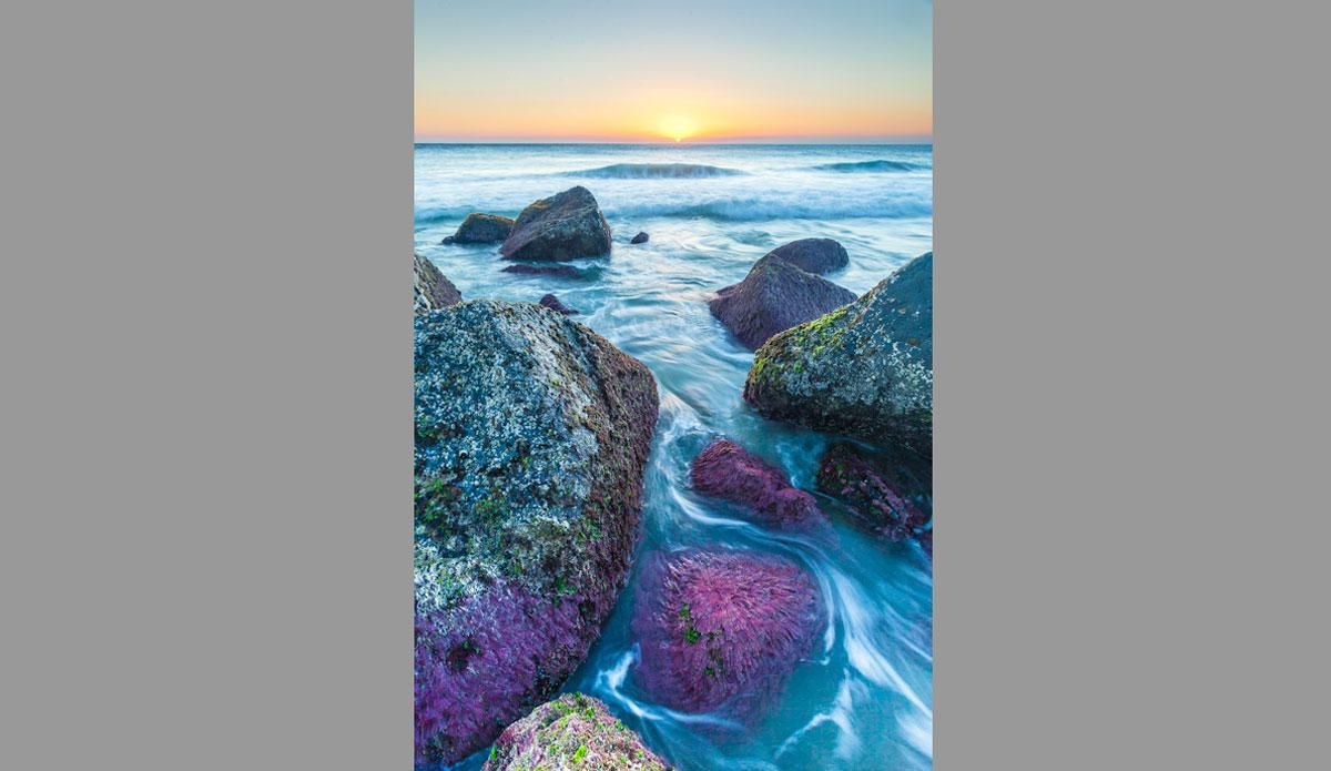 "Purple rocks at Point Danger. Photo: <a href=\""http://jessethompsonphotographer.com/\""> Jesse Thompson</a>"