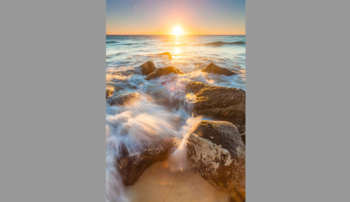 "Greenmount Beach sunset. Photo: <a href=\""http://jessethompsonphotographer.com/\""> Jesse Thompson</a>"