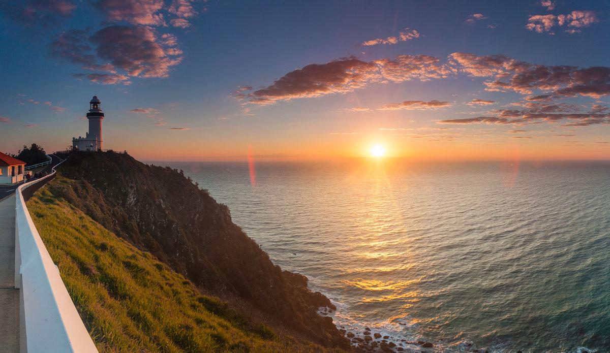 "Sunrise from the Byron Bay Lighthouse. Photo: <a href=\""http://jessethompsonphotographer.com/\""> Jesse Thompson</a>"