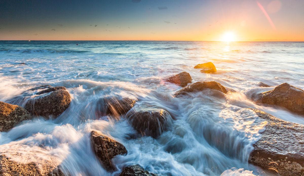 "Sunset at Greenmount Beach. Photo: <a href=\""http://jessethompsonphotographer.com/\""> Jesse Thompson</a>"