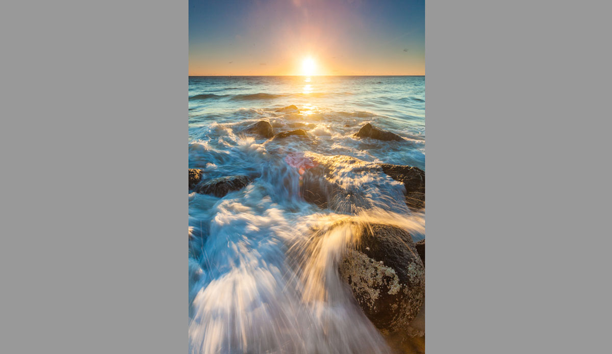 """The tide coming in at Greenmount Beach. Photo: <a href=\""""http://jessethompsonphotographer.com/\""""> Jesse Thompson</a>"""