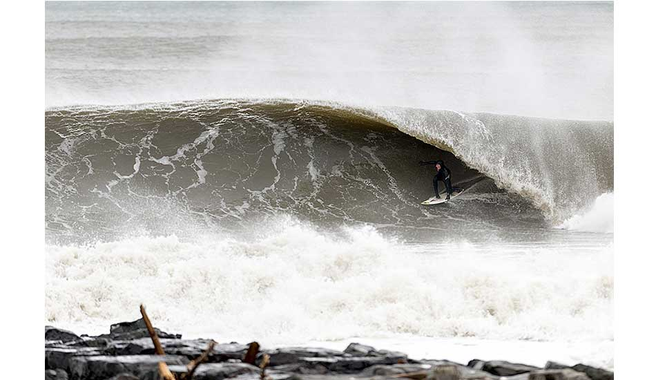 """Clay Pollioni. Bay Head, New Jersey. Doomsday swell. Photo: <a href= \""""http://joanneosh.zenfolio.com/\"""" target=_blank>Joanne O\'Shaughnessy</a>"""