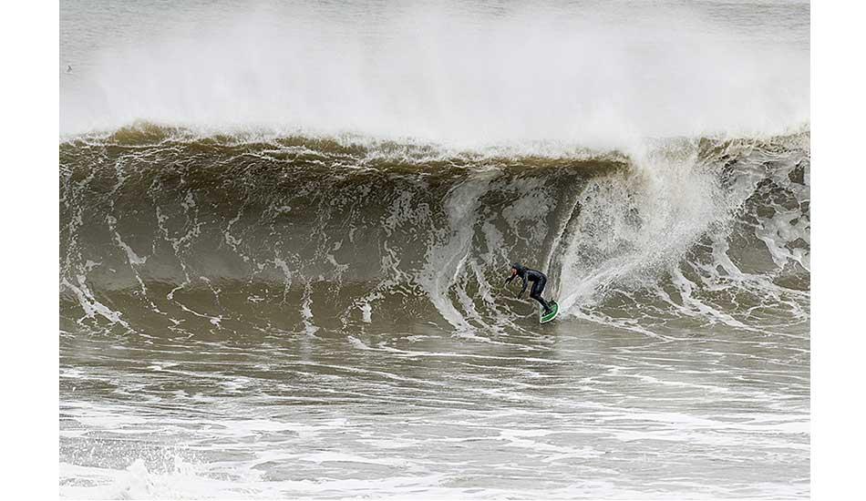 Sam Hammer. Bay Head, New Jersey. Doomsday swell.
