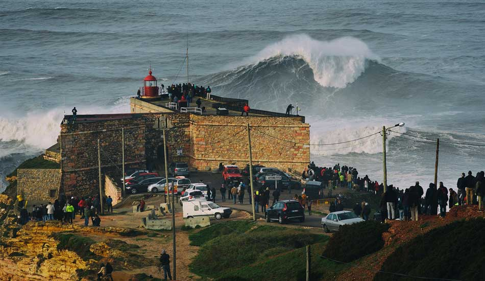 """The most famous fortress in surfing today. Photo: <a href= \""""http://joaobracourt.com/\"""" target=_blank>Joao Bracourt.</a>"""