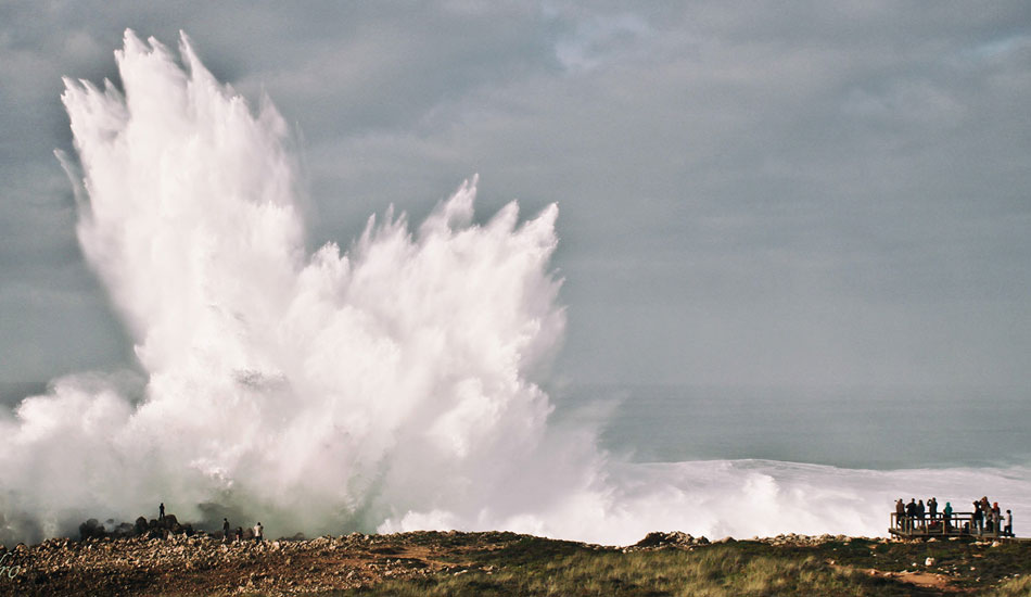 Hercules arrived at the southwest coast of Portugal with a bang. Photo: Andre Rapala