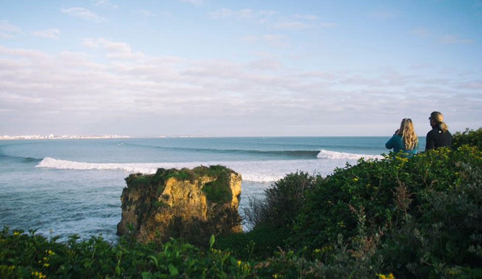 Since it faces east, this place almost never gets waves. Thank you, Hercules. Photo: Joao Cabrita