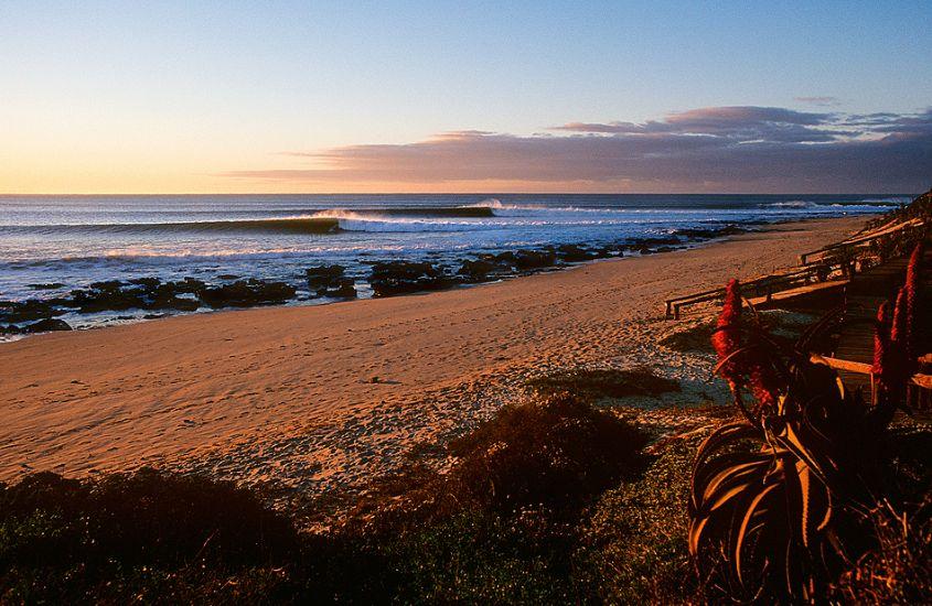 "Jeffreys Bay at sunrise. South Africa. Photo: <a href=\""http://www.joecurren.com\"" target=_blank>Joe Curren</a>"
