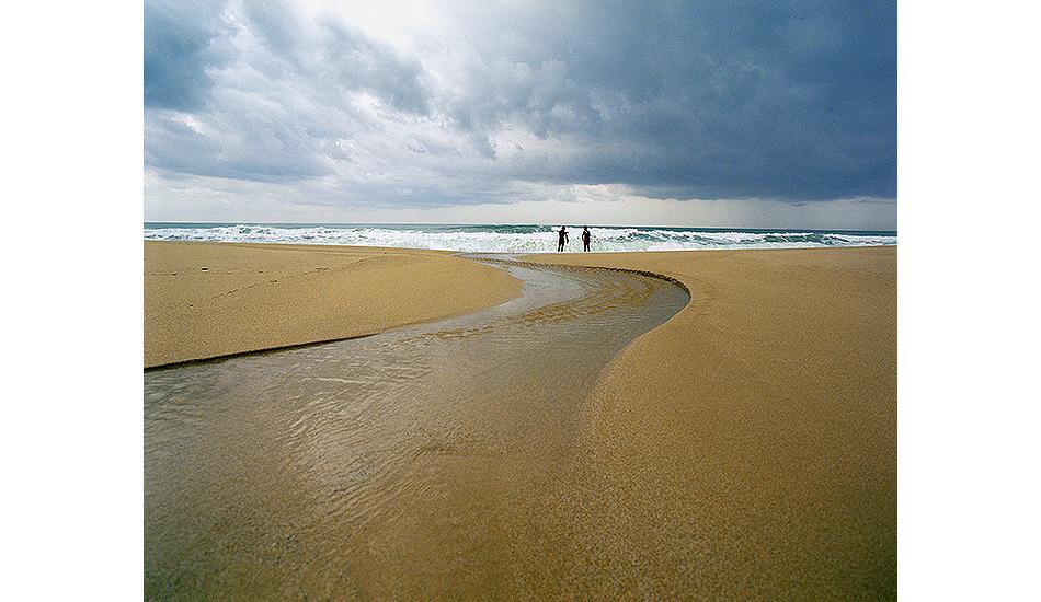 """Two surfers. Ionian Sea, Greece. Photo: <a href=\""""http://www.joecurren.com\"""" target=_blank>Joe Curren</a>"""