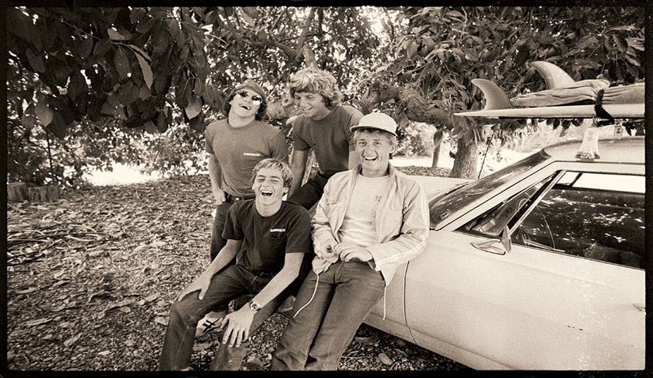 I was in California in 1980, at a party in Monetico, and for some reason, around mid-night it seemed a good idea to walk into the Ranch to go surfing.  The expeditionary force was made up of Matt and Sam George, Tommy Curren, Neil Gay and me. There was no swell. None at all. We walked back out and went and surfed Jalama at dawn.