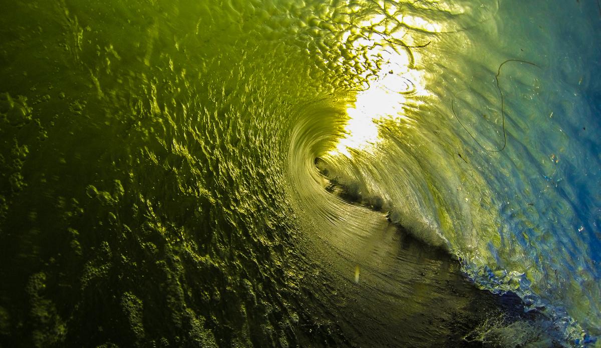 Powerful shorebreak and perfect light for a great watershot in Santa Cruz.