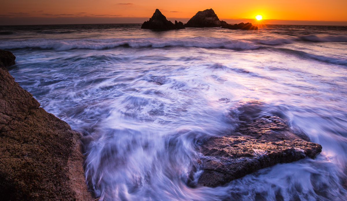 Sutro Bath is a perfect place to watch the sunset in the heart of San Francisco.