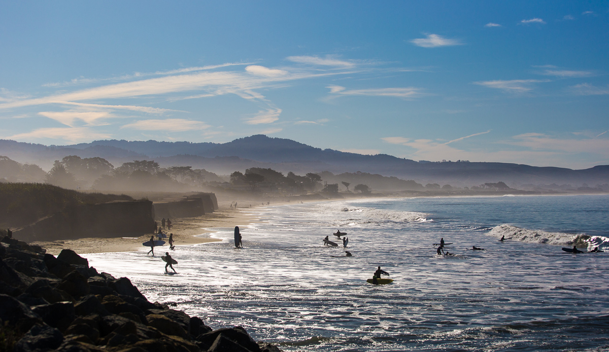 Mavericks is just few miles away. Despite the mountainous waves that break here, Half Moon Bay can be a pretty peaceful place.