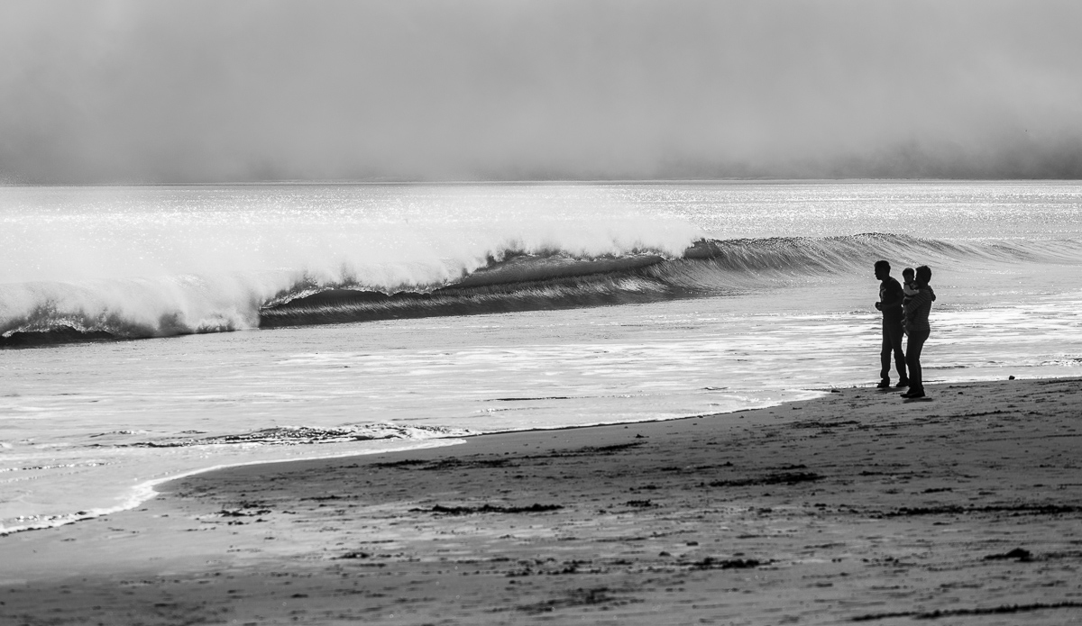 There are some fast, hollow beach breaks around Point Reyes National Seashore. Here is a small day.