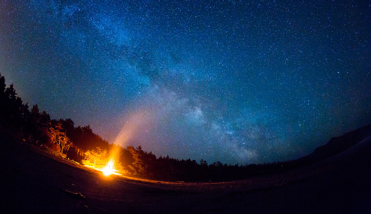 """Bonfires and stargazing in Tofino, Canada. Photo: <a href=\""""http://jungphoto.com/\"""">Justin Jung</a>"""