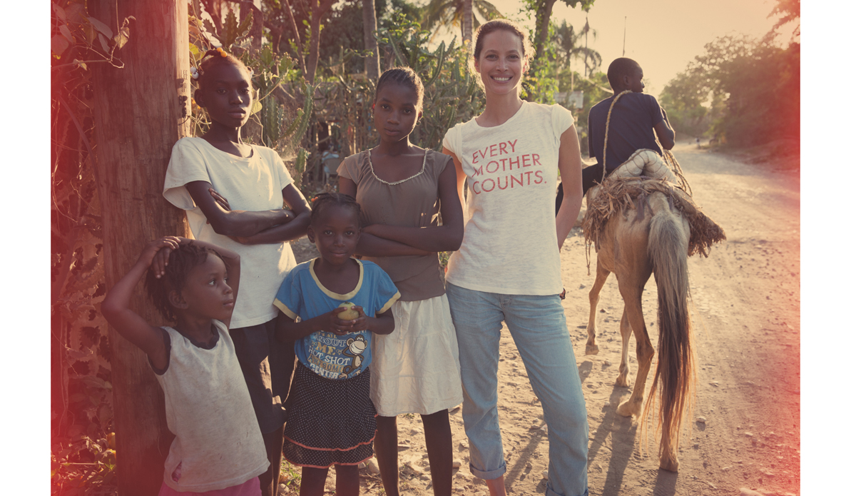 "<a href=""http://everymothercounts.org/\"">Every Mother Counts</a> founder, Christy Turlington, among friends in Haiti. Photo: <a href=\""http://instagram.com/kassiameador\"">Kassia Meador</a>"