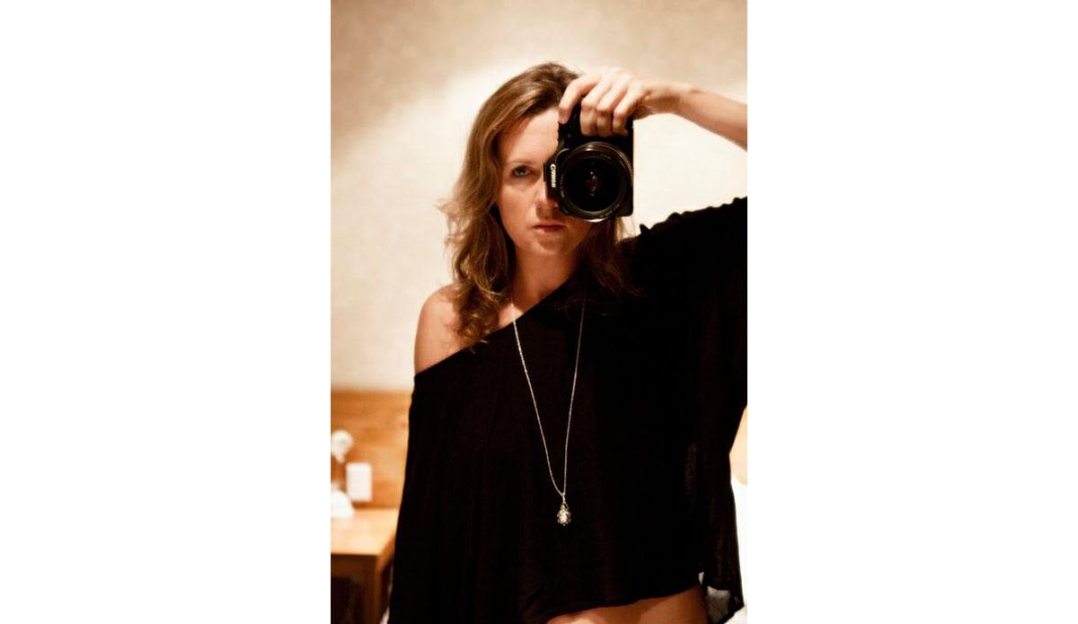 Kirstin Scholtz, behind her desk.