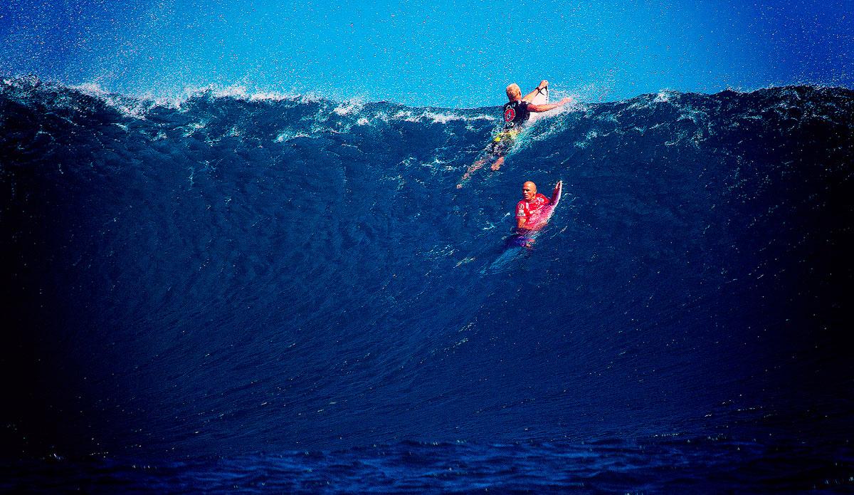 "Slater\'s look back in Fiji. Photo: <a href=\""http://www.kirstinscholtz.com/\"">Kirstin Scholtz</a>"