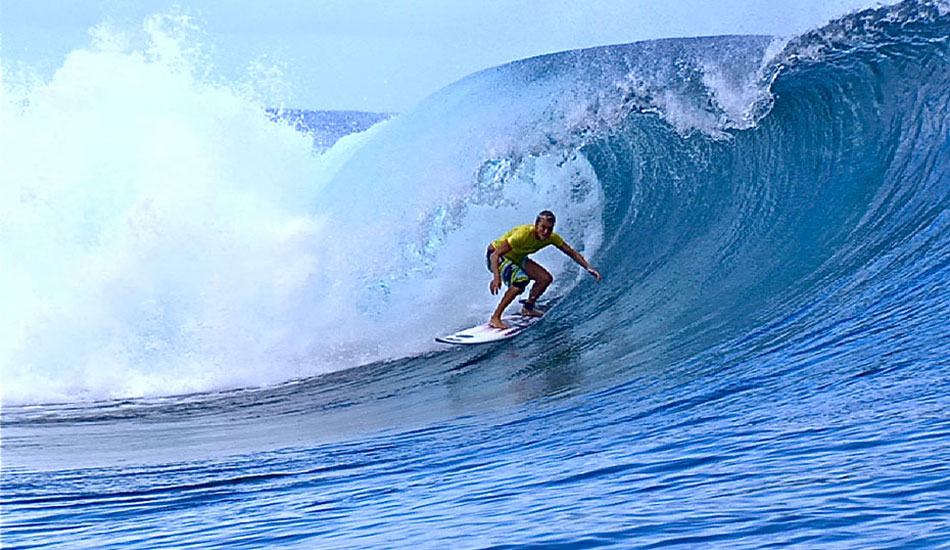 ""\""""It was a pretty regular looking wave. I took off and it kind of had a bit of bump that kept me from pulling into the barrel straight away."""" Photo: <a href=""""http://surfingvisions.com/"""" target=_blank>Tim Bonython Productions</a>.""950|550|?|en|2|5e8a57bdc10a3203174d6e3093dae238|False|UNLIKELY|0.29745739698410034