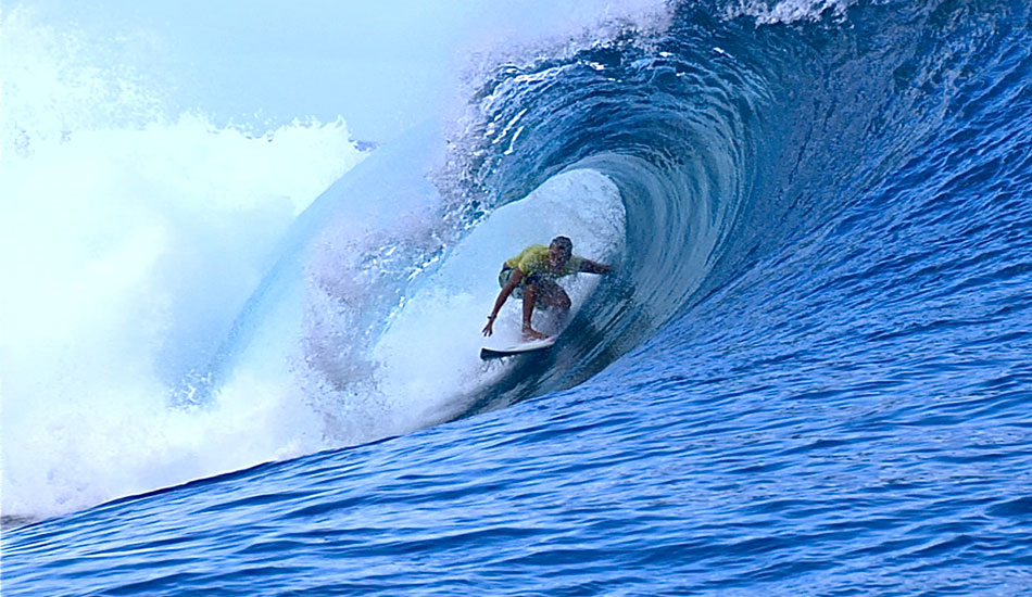 ""\""""... so I bottom-turned and parked it in the barrel."""" Photo: <a href=""""http://surfingvisions.com/"""" target=_blank>Tim Bonython Productions</a>.""950|550|?|en|2|7fbd582a92e83475dc21d87334c95f8a|False|UNLIKELY|0.3119344115257263