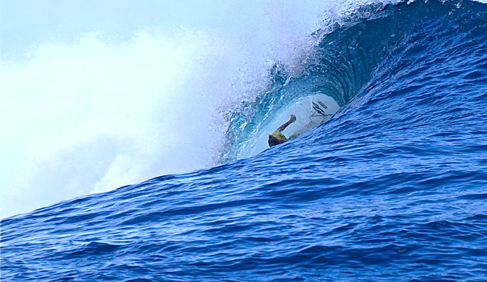 ""\""""It threw me straight into the reef before I even realized what happened."""" Photo: <a href=""""http://surfingvisions.com/"""" target=_blank>Tim Bonython Productions</a>.""950|550|?|en|2|6cb7b144bf40b95dce0c39f72c737e3c|False|UNLIKELY|0.31796908378601074