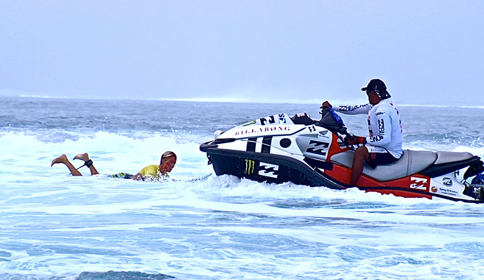 """Keala\'s rescue. Photo: <a href=\""""http://surfingvisions.com/\"""" target=_blank>Tim Bonython Productions</a>."""