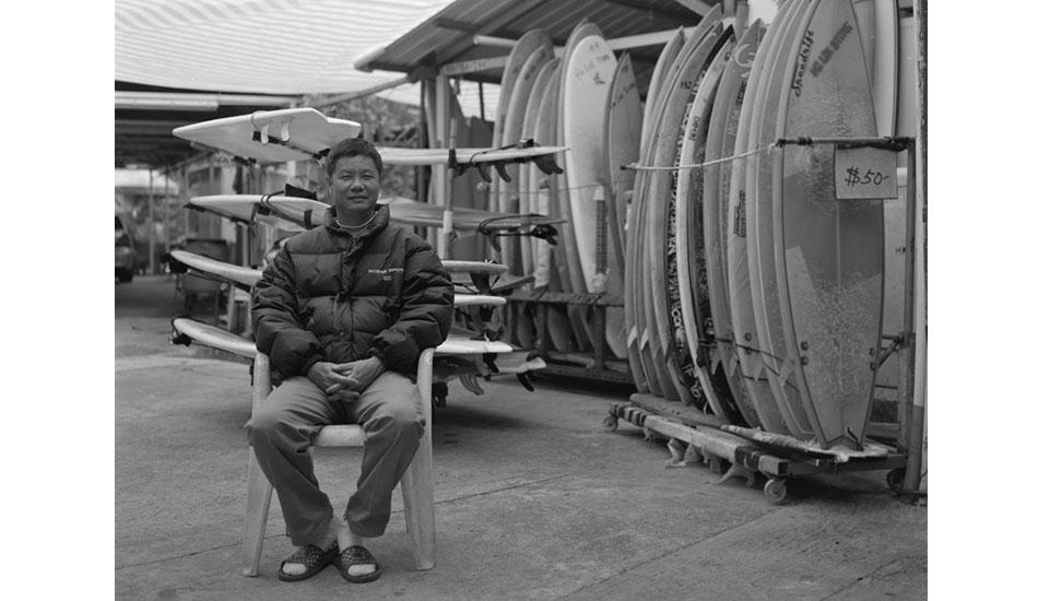 "Ho Lok surf shop owner only spoke a few words of English but still was a great host. Photo: <a href=\""http://www.stephenarthurmilner.com\"">Stephen Milner</a>"