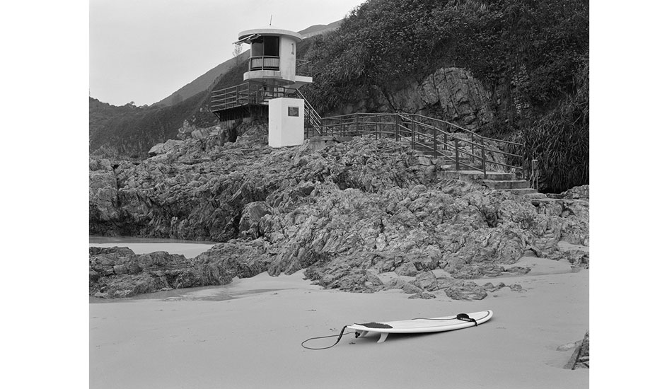 """Big Wave Bay is surrounded by lifeguard stands and shark nets. Photo: <a href=\""""http://www.stephenarthurmilner.com\"""">Stephen Milner</a>"""