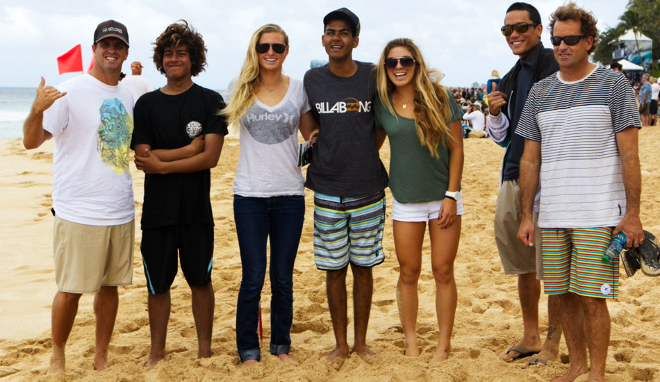 Here Coco Ho, Tom Curren, and crew are with blind surfer Derek Rabelo in Hawaii. We had the opportunity to surf together, and it was an amazing day.