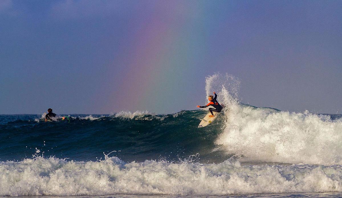 "Adin Masencamp finding gold at Nahoon reef. Photo: <a href=\""https://www.facebook.com/pages/Pho-Tye-Studio/398591356893177?fref=nf\""> Tyerell Jordaan</a>"