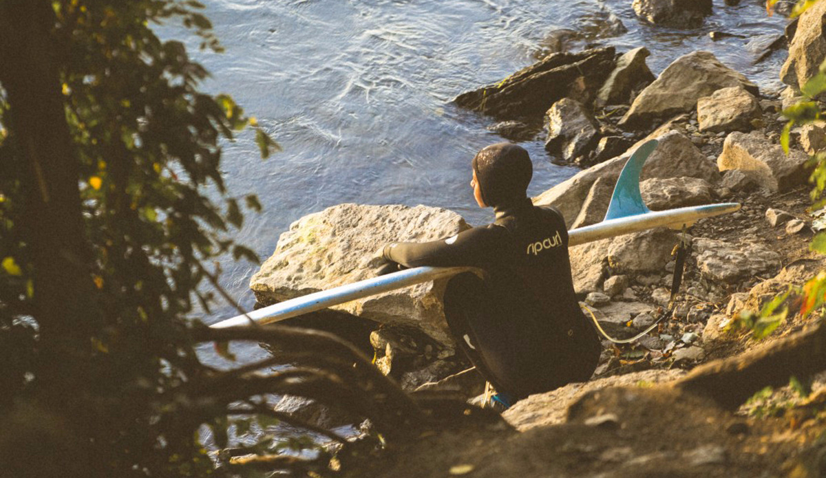 Waiting for my turn on an early morning surf session. Photo: Jeremy Lechatelier