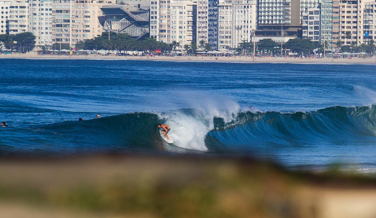 Marcelo Luccas, a local at Copacabana.