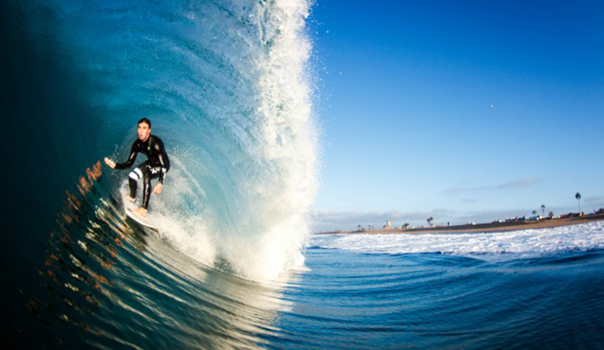 Cameron Faris during Hurricane Lowell. He scored the best hour of waves I have ever seen at this spot.