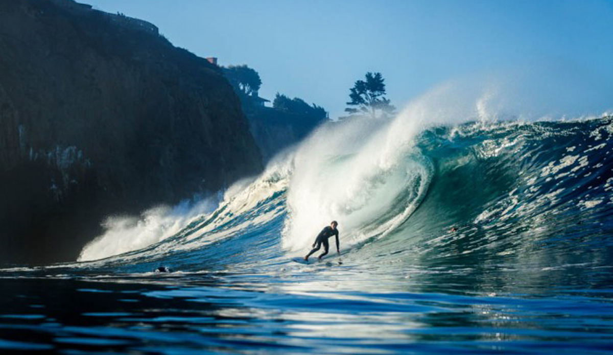 Tommy Cantrell about to set up on this beautiful wave.