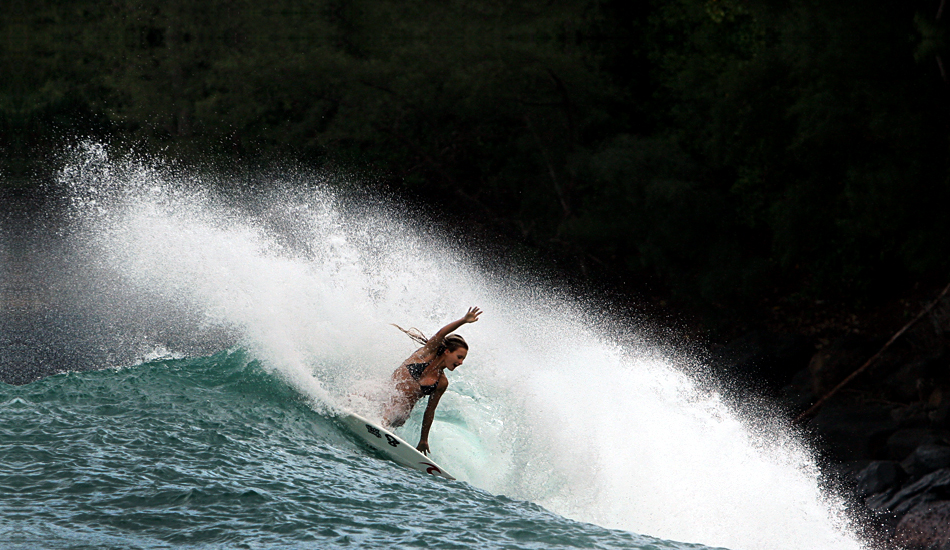 """The best thing about this isn\'t the wave or the turn, it\'s the smile.  Photo: <a href=\""""http://www.mikecoots.com\"""">Mike Coots</a>"""