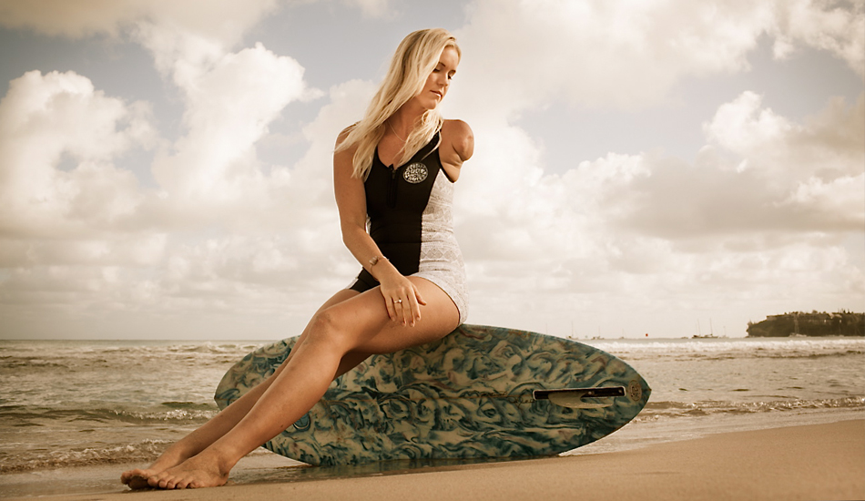 """Bethany Hamilton: the strongest surfer there is. Photo: <a href=\""""http://www.mikecoots.com\"""">Mike Coots</a>"""
