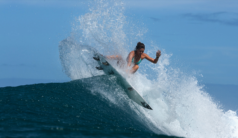 """Fins free Kaua\'i girl. Photo: <a href=\""""http://www.mikecoots.com\"""">Mike Coots</a>"""