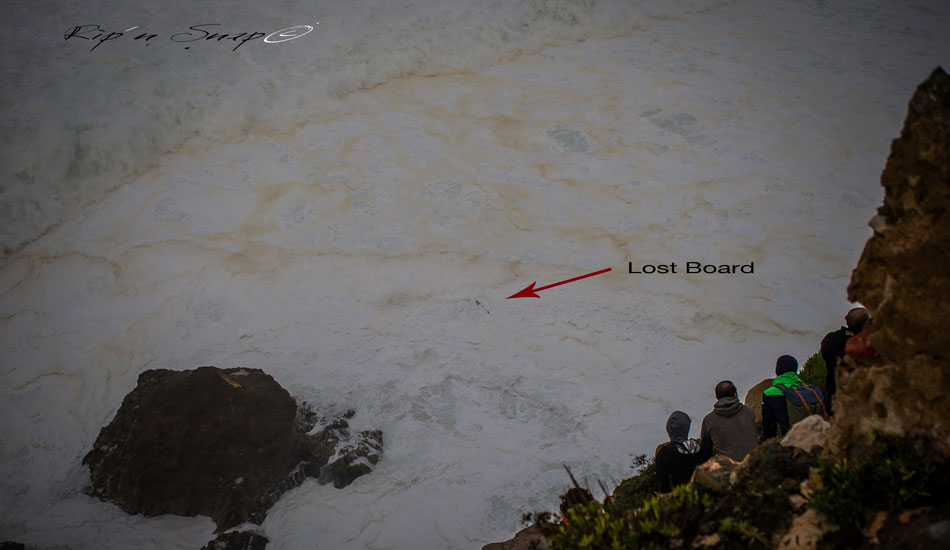 "Where the board ended up. Photo: <a href=""https://www.facebook.com/ripandsnap\"" target=_blank>Mark Wengler</a>"