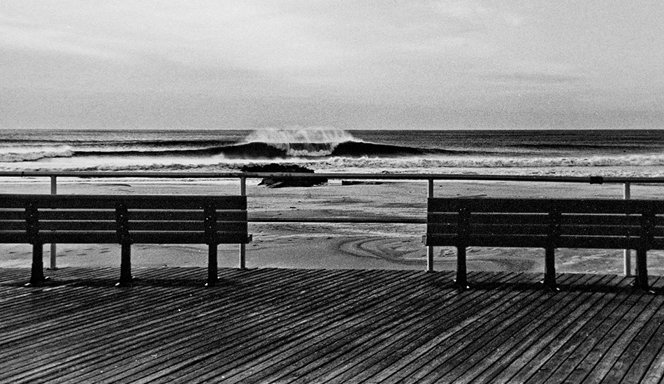 "Classic New York: The boardwalk, the benches, the frigid black a-frame. This is the day we wait months for. Photo: <a href=""http://www.clarkography.com/\"" target=_blank>Matt Clark</a>"