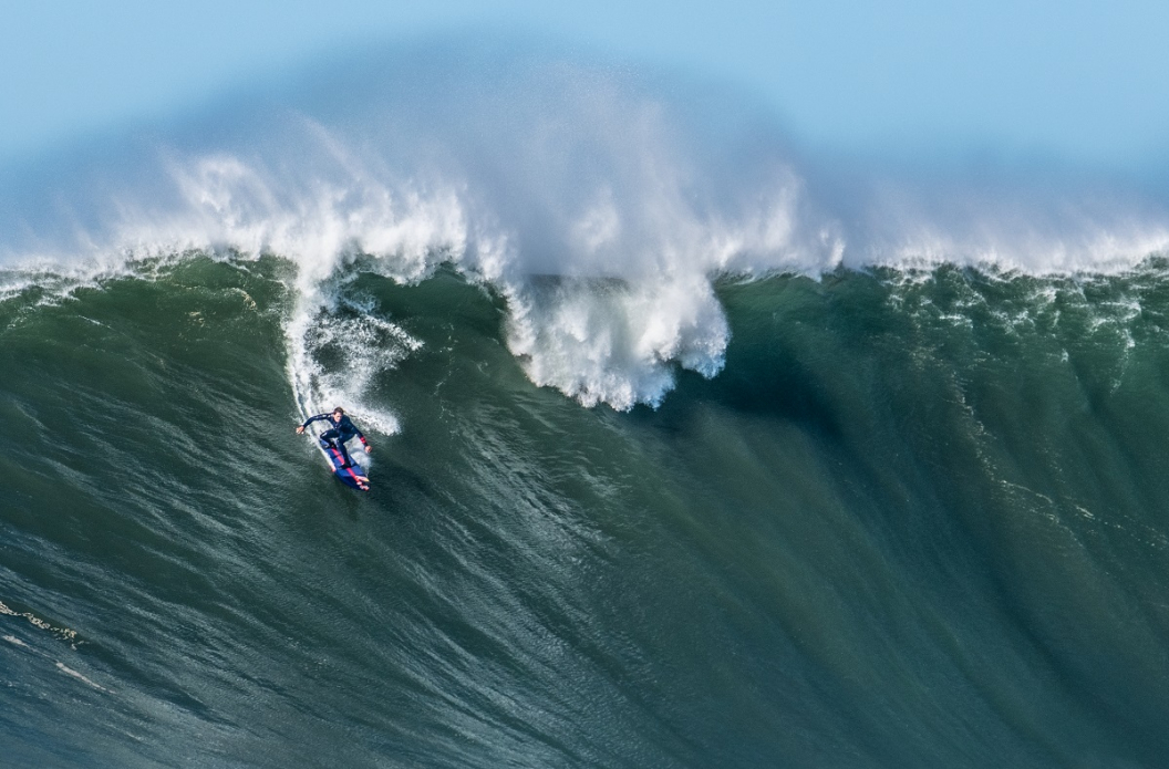 The ride of a lifetime for some, another day in the office for Kai Lenny. Photo: Richard Podgurski Jr