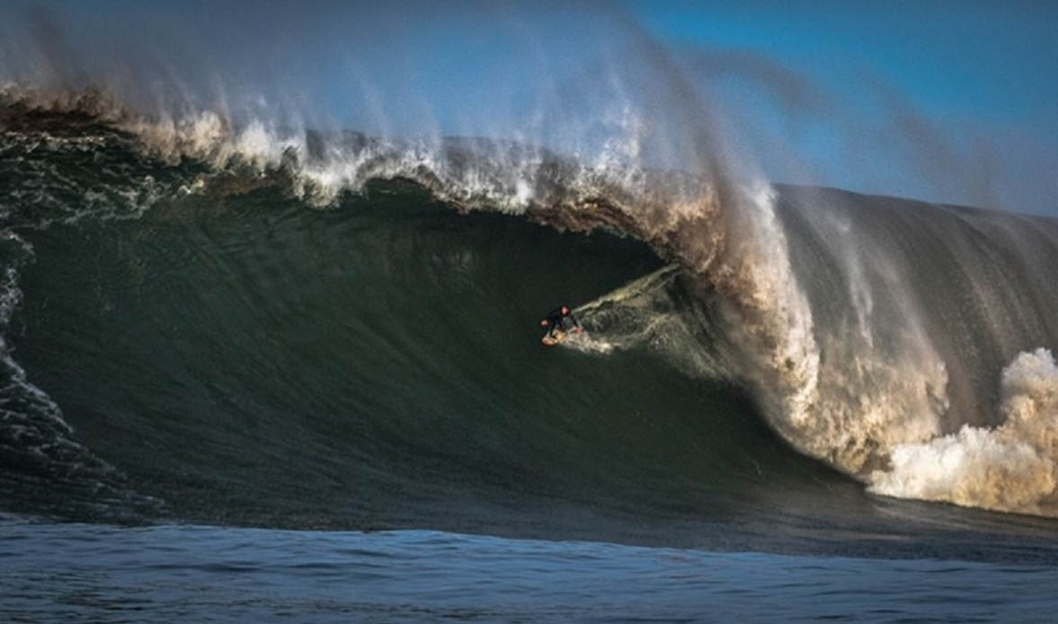 19-year-old Luca Padua has put his time in at Mavericks, and it paid off. Photo: Todd Turner