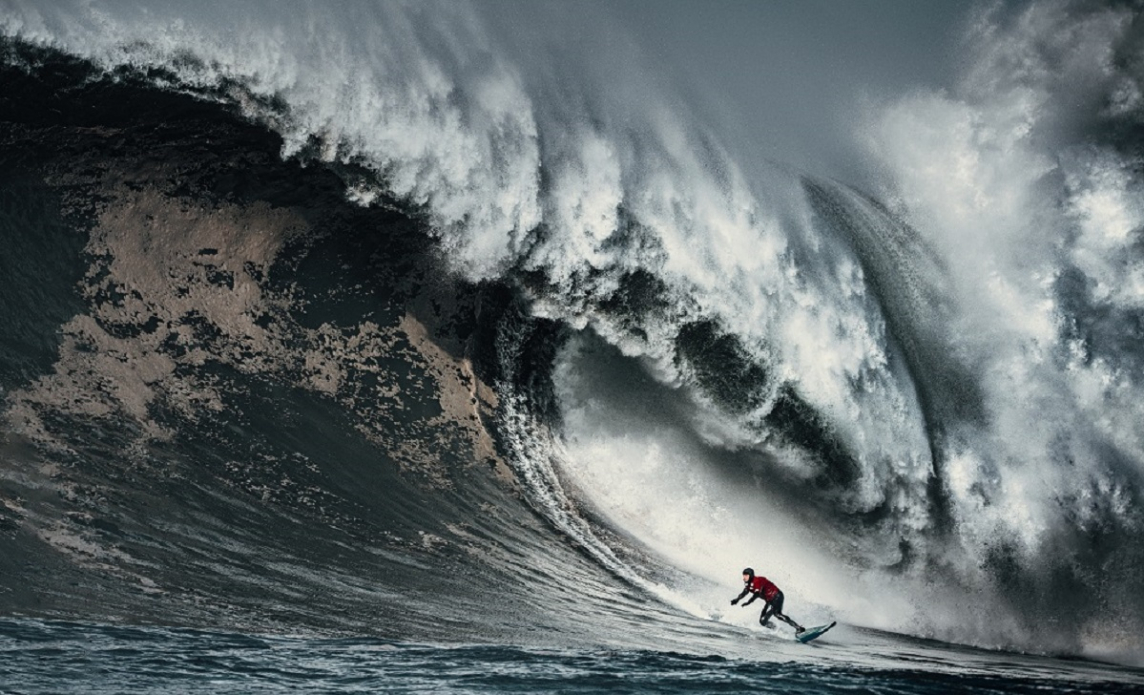 Peter Mel may have caught the wave of the day with this monster. Photo: Euan Rannachan