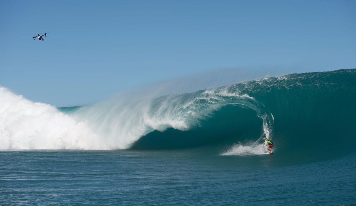 "Nicolo Porcella watching the drone. Photo: <a href=\""http://www.timmckennaphoto.com/\"">Tim McKenna</a>"