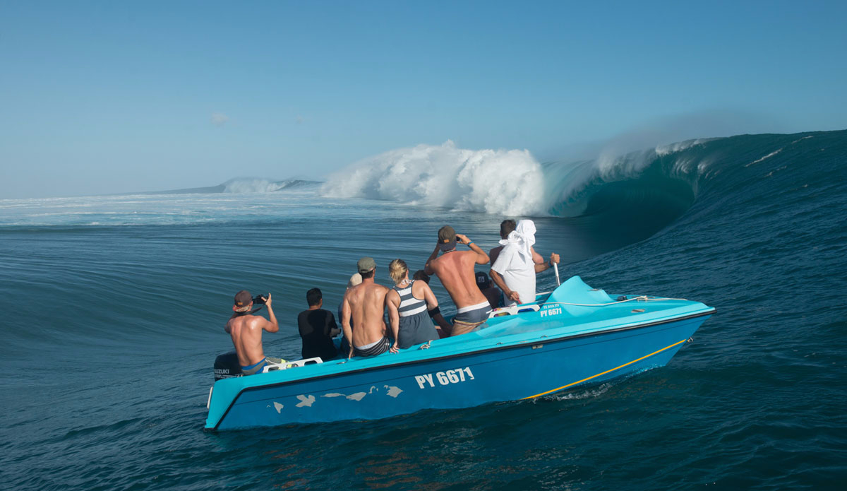 """The channel at Teahupoo is one of the most amazing places on earth. Photo: <a href=\""""http://www.timmckennaphoto.com/\"""">Tim McKenna</a>"""