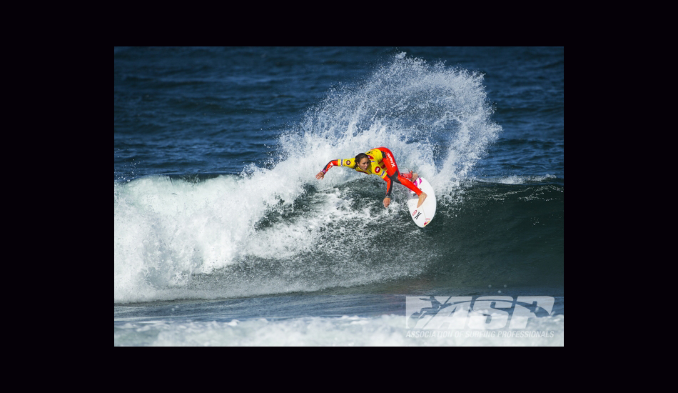 After a third in France, Carissa got down to business in Portugal. Image: ASP/Poullenot